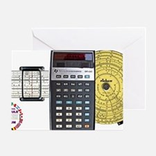 slide rule calculator composite with Greeting Card
