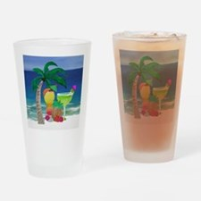 Tropical Drinks on the beach Drinking Glass
