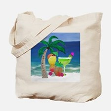 Tropical Drinks on the beach Tote Bag