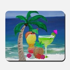 Tropical Drinks on the beach Mousepad