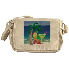 Tropical Drinks on the beach Messenger Bag