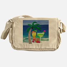 Tropical Drinks on the beach Messenger Bag
