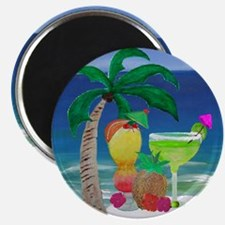 Tropical Drinks on the beach Magnet