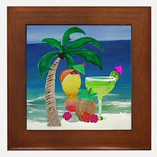 Tropical Drinks on the beach Framed Tile