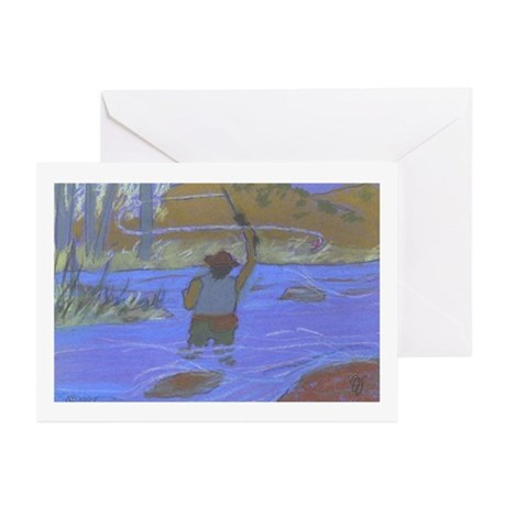 Fly Fisherman Greeting Cards (Pk of 10)