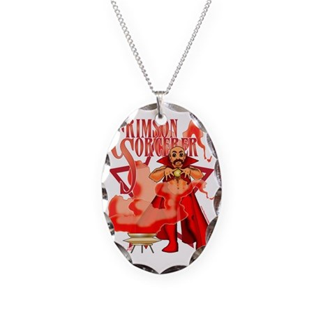 crimson sorcerer necklace oval charm by admin cp11421988