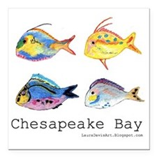 "Chesapeake Bay, Virginia Square Car Magnet 3"" x 3"""