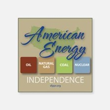 """American Energy Independenc Square Sticker 3"""" x 3"""""""
