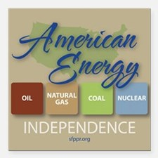 """American Energy Independ Square Car Magnet 3"""" x 3"""""""