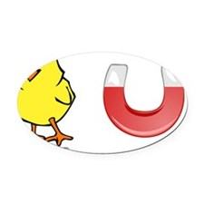 Chick Magnet Oval Car Magnet
