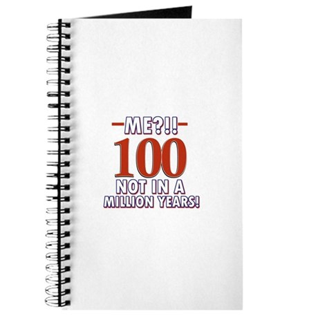 100 years already??!! Journal