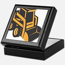 skid steer digger truck Keepsake Box
