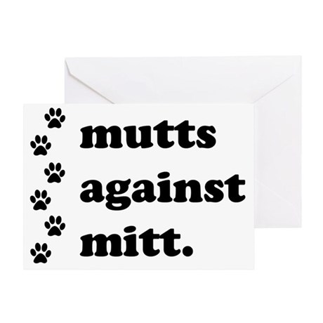 mutts against mitt Greeting Card