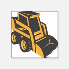 "skid steer digger truck Square Sticker 3"" x 3"""