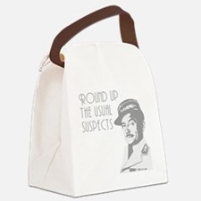 round up the usual suspects Canvas Lunch Bag