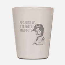 round up the usual suspects Shot Glass