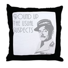 round up the usual suspects Throw Pillow