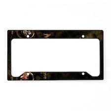 MGbronzePOSTER sideways License Plate Holder