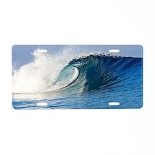 Fijian Wave Aluminum License Plate