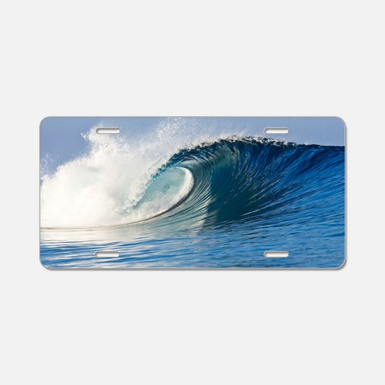 Fijian Wave Aluminum License Plate