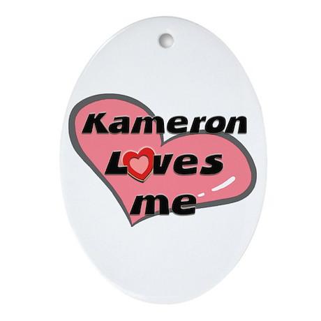 kameron loves me Oval Ornament