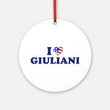 I Heart / Love Giuliani Ornament (Round)