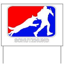 Schutzhund red white blue Yard Sign