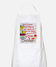 wine shoes and chocolate Apron