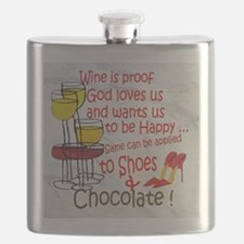 wine shoes and chocolate Flask