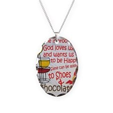 wine shoes and chocolate Necklace