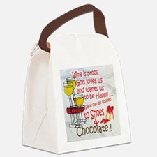 wine shoes and chocolate Canvas Lunch Bag
