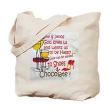 wine shoes and chocolate Tote Bag