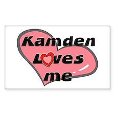 kamden loves me Rectangle Decal