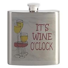 wine oclock Flask