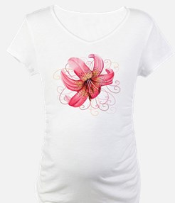 Pink Lily white background Shirt