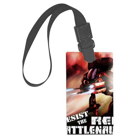 Red Battlenaut Image Cafe Press Large Luggage Tag