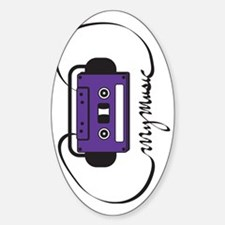 Ribbon Logo (Vertical) Sticker (Oval)