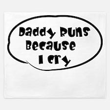 Daddy Runs White King Duvet