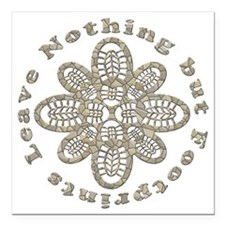 "Leave Nothing Boot Stone Square Car Magnet 3"" x 3"""