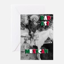 Bad Ass Mexican Greeting Card