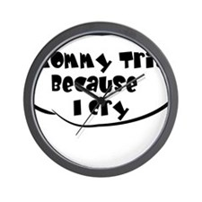 Mommy Tris White Wall Clock