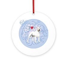 dogo-charm2 Round Ornament