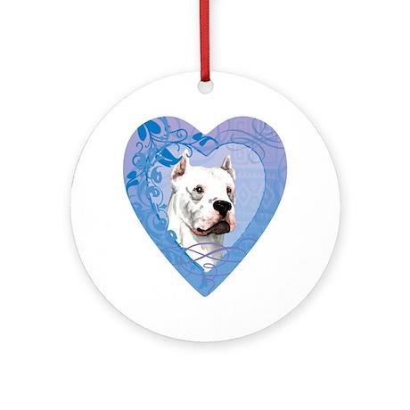dogo-heart Round Ornament