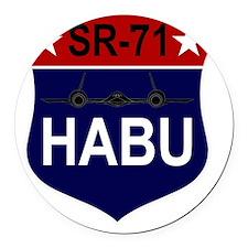 SR-71 - HABU Round Car Magnet