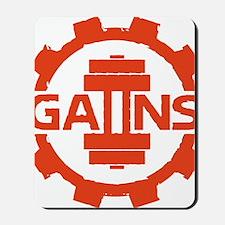 GAIINS Cog Logo Red Mousepad
