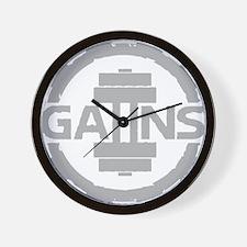 GAIINS Cog Logo Grey Wall Clock