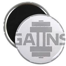 GAIINS Cog Logo Grey Magnet