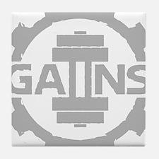 GAIINS Cog Logo Grey Tile Coaster