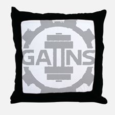 GAIINS Cog Logo Grey Throw Pillow