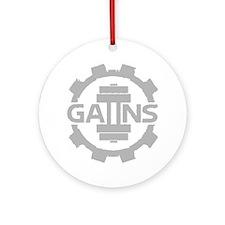 GAIINS Cog Logo Grey Round Ornament